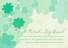 These watercolor shamrocks cards are a great way to wish your loved ones good cheer.