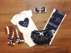 Dallas Cowboys Bodysuit AND Headband by BebeSucreOnline on Etsy