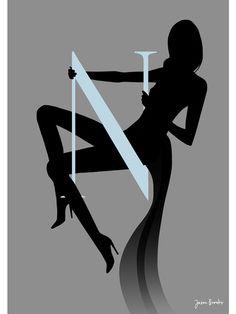 Jason Brooks Store — Silhouette Alphabet N