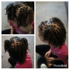 Kid ponytail locs