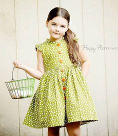 Wishful Glen Park Vintage Green Floral Dress – Little Miss Marmalade