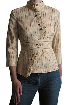 i love the asymmetry of this blouse, very anachronistic