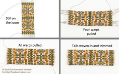 finished bead loomed pieces