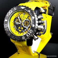 Invicta Sea Hunter III Yellow 18829 Swiss Chronograph Watch for sale online Diesel Watches For Men, Big Watches, G Shock Watches, Stylish Watches, Luxury Watches For Men, Cool Watches, Amazing Watches, Beautiful Watches, Patek Philippe
