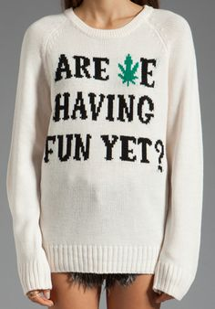 UNIF Are We? Sweater in Off White - Pullover