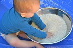 hands in rice- to take to the park soon