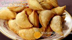 Gujiya recipe | Gujhiya Mawa Moong Dal | Karanji Mawa Dryfruit Moongdal