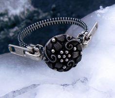 Silver Steampunk Zipper Bracelet by PeteAndVeronicas on Etsy, $23.00