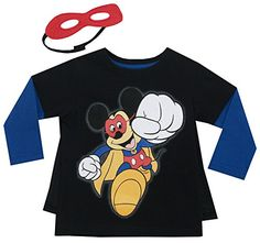 Disney Little Boys' Mickey Mouse Long Sleeve Tee W Cape&Mask, Black, 2T Disney http://www.amazon.com/dp/B00EF36UWA/ref=cm_sw_r_pi_dp_y.hcvb01BQA51