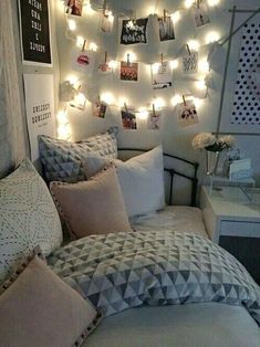 Do you want to decorate a woman's room in your house? Here are 34 girls room decor ideas for you. Tags: girls room decor, cool room decor for girls, teenage girl bedroom, little girl room ideas Cool Room Decor, Small Room Decor, Room Lights Decor, Paris Room Decor, Wall Lights, Cute Room Ideas, Comfy Room Ideas, Tumblr Rooms, Teen Room Tumblr