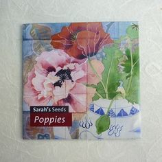 Poppy flowers seed packet by MangoFrooty on Etsy, $5.00