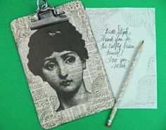 No one really writes letter anymore, but if I did I would do this neat #DIY stationary idea.  Write your letter, then rub it on the newspaper board for your own stencil, #vintage #stationary
