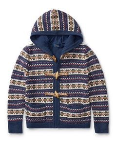 Fair Isle Hooded Sweater - Girls 7-16 Sweaters - RalphLauren.com