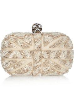 3aaaa2d98a Alexander McQueen Clutch Clear Handbags, Best Handbags, Alexander Mcqueen  Clutch, Skull Purse,