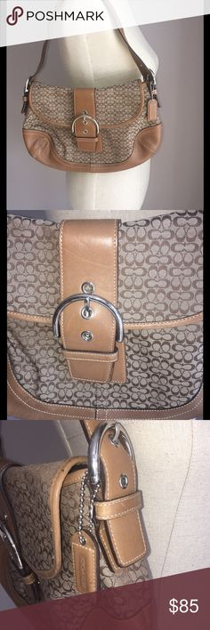 💖👜💖GORGEOUS 💯 AUTHENTIC COACH PURSE💖👜💖 This versatile Authentic COACH purse can double as a shoulder bag or a satchel purse--whatever your mood!!💖 has adjustable strap with beautiful silver hardware. Decorative front buckle and slit pocket in bag for additional storage. 2 deep pocket inside for storing cell phone 📱 or keys 🔑. Zipper pocket inside as well for more secure storage option. EXCELLENT CONDITION Genuine leather from a Smoke free house 👜💖👜 Coach Bags Shoulder Bags