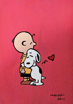 Snoopy loves his human, Charlie Brown. Charlie Brown loves his dog, Snoopy~