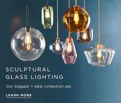 Sculptural Glass Lighting: Our biggest + best collection yet