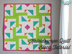 Free Tutorial - Kaleidoscope Quilt Block by Bijou Lovely