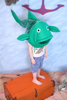 Green fish costume-one size fits all