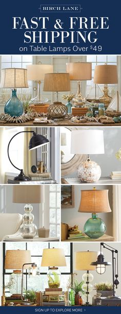 Table lamps at birchlane.com! Sign up to find out more about FREE SHIPPING on all orders over $49!