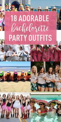 18 Totally Adorable Bachelorette Party Outfits - Bachelorette Planning Tips & Inspiration - Girls Bachelorette Outfits, Bachelorette Party Planning, Bachelorette Party Themes, Bachelorette Weekend, Bachlorette Party Tshirts, Bachelorette Gift Bags, Nautical Bachelorette, Party Shirts, Casamento