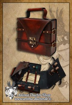 VIALS SUITCASE   for healer and alchemists  by AnimaDuctor on Etsy, €279.00