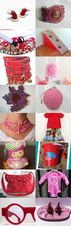 Reds and Pinks by Jennifer Burrell on Etsy--Pinned with TreasuryPin.com #novemberfinds