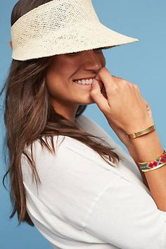 Obsessed with this summer hat! Julia Straw Visor a334369616ed