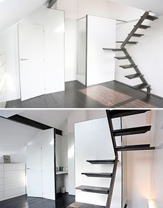 Space saving stairs ideas pinterest space saving space saving furniture and craft gifts - Small loft space model ...