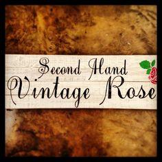 Vintage Rose Sign