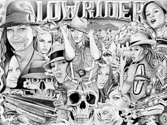 lowriders drawings   Lowrider Art