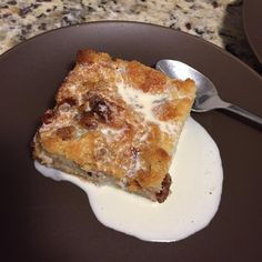 Bread pudding with whisky sauce