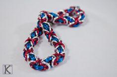 Bracelet Blue, Red & Silver Byzantine Style https://www.etsy.com/listing/497419356/bracelet-blue-red-silver-byzantine-style
