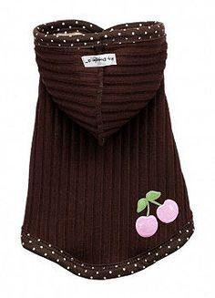 Chocolate Cherry Dog Hoodie  | Hip Doggie at PupRwear $28.95