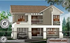 Best Architecture Houses & New Two Story House Plans, Collections Two Storey House Plans, Double Storey House, 2 Storey House Design, Duplex House Design, Plan Duplex, Duplex House Plans, New House Plans, Modern House Plans, Modern Houses Pictures