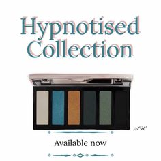 Hypnotised eyeshadow collection - on trend colours to create current looks. Highly pigmented and finely milled for easy blending contains matte and shimmer shades