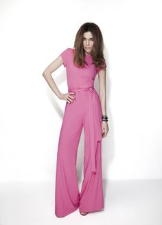 Pink jumpsuit  Despina vandi for Chip and Chip  Attica Golden Hall and Thessaloniki at Cosmos Mall Attica and also Kifissia and Mc Arthur Glenn...