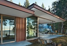 Architect Gary Gladwish designed a house on Orcas Island, Washington, for his mother, Marie, an artist. With wide, open planes, the home incorporates lasting solutions for all mobility stages. Courtesy of Benjamin Benschneider/Seattle Times.