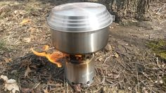 Solo Stove and large Solo pot with lid. Part of the Solo 3 pot set.