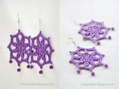 besenseless rev crochet earrings