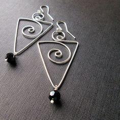 Maxi brincos triangulos | prata