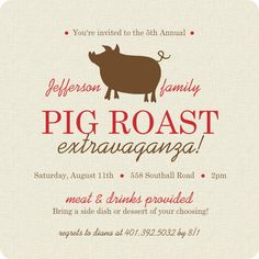 Easily Customize This Modern Pig Roast Bbq Invitation Design Using The Online Editor All Of Our Invitations Templates Are Fully Customizable