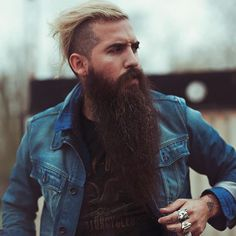 Trig Perez - long dark thick beard mustache beads bearded man men mens' style fashion clothing street winter fall handsome #beardsforever