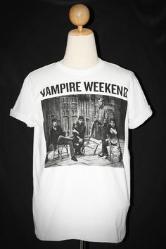Vampire Weekend American Indie Rock White Unisex Man T-Shirt Size L