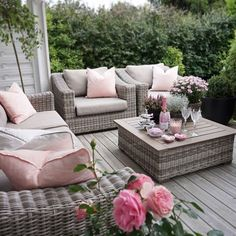 Patio Furniture Covers, Porch Furniture, Outdoor Furniture Sets, Cozy Patio, Backyard Patio, Outdoor Spaces, Outdoor Living, Outdoor Decor, Patio Design