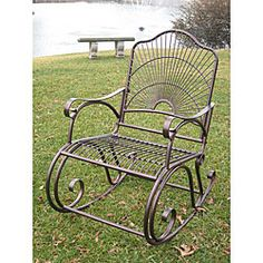 This Sun Ray Outdoor Iron rocker is perfect for pools, backyards, and porches Comfortable rocking chair adds a homey touch to your yard or patio Lawn furniture available in attractive hammered copper color option
