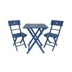 INDUS Salon de jardin aluminium table 150cm, 6 fauteuils en ...