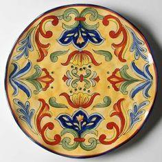 Resultado de imagen para platos pintados ceramica mexicana