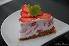 Comme un cheesecake à la fraise ultra léger, rapide et simple
