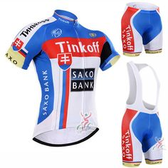 81776cc1c 2016 Tinkoff Saxo Bank Pro Cycling Kit   Short Sleeve Jersey Padded Bib  Shorts   Quick